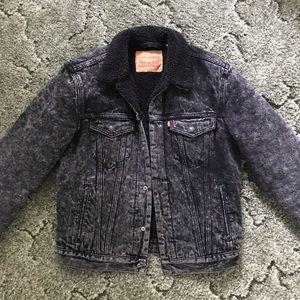 Levi's Sherpa Trucker Jacket Acid Wash